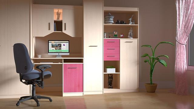 obývací stěna pro dívku