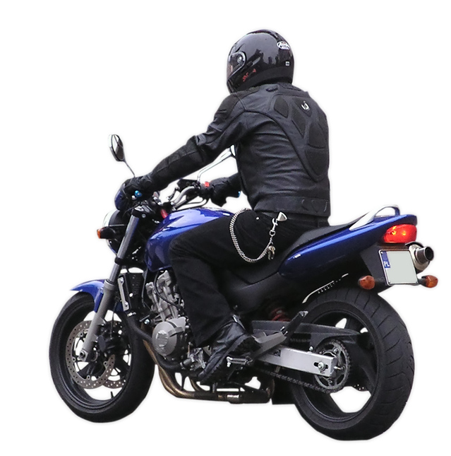 Osoba na motorke, model
